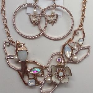 BetseyJohnsonNewWhite Butterfly Necklace & Earring